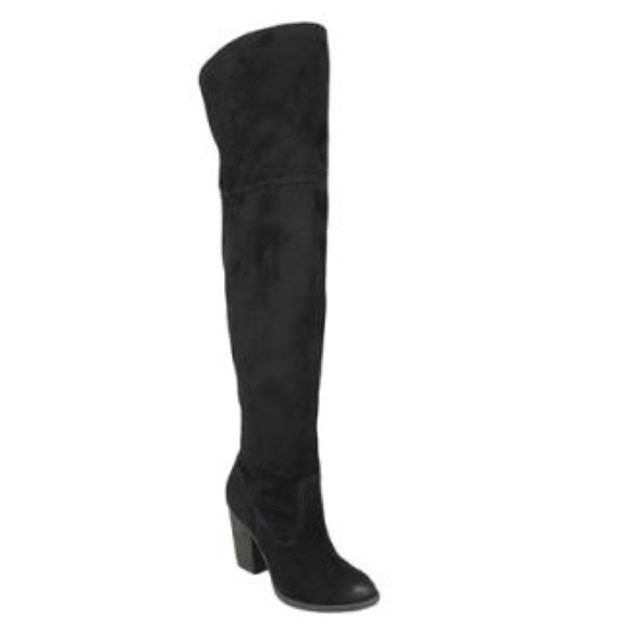 4170ac282b7 Black over the Knee Boots. Boutique. Not Rated